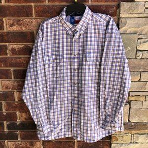 Wranglr George Straight Cowboy Cut Plaid Shirt XXL